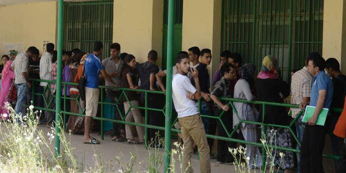 Sur le campus de l'université de Fez, en mai 2014.