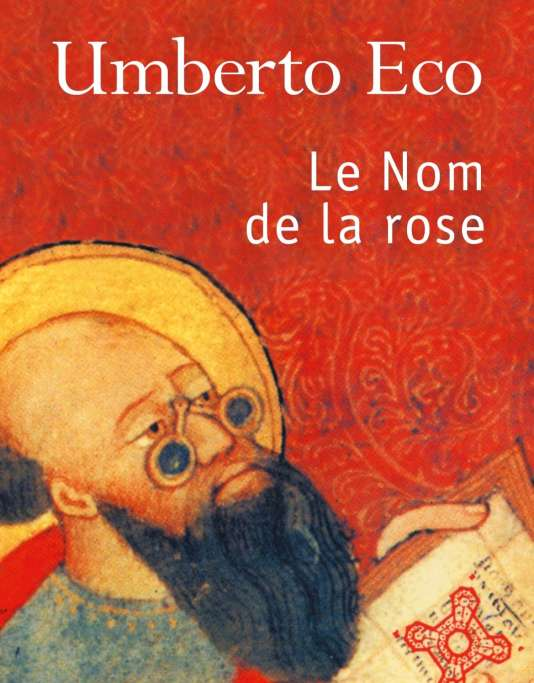 """La couverture du """"Nom de la rose"""", aux éditions Le Livre de Poche (2002)."""