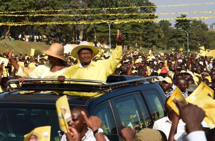 Yoweri Museveni à Kampala, la capitale ougandaise, le 16 février.