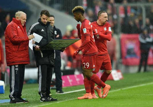 Kingsley Coman, remplacé par Franck Ribéry, a vite grappillé du temps de jeu sous le maillot du Bayern.