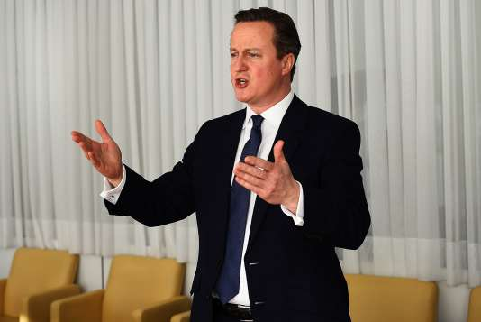 Le premier ministre britannique, David Cameron, à Bruxelles, le vendredi 19 février 2016.