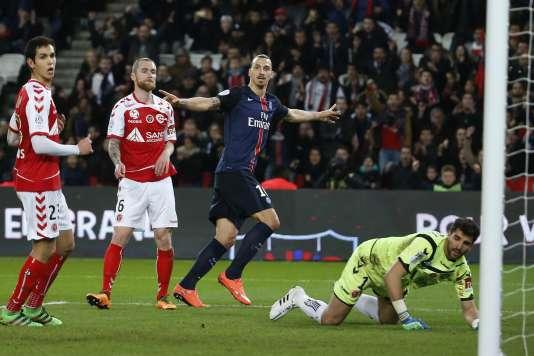 Zlatan Ibrahimovic, auteur d'un doublé face à Reims, le 20 février.