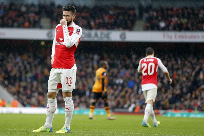 Olivier Giroud, attaquant français d'Arsenal.