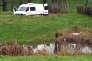L'étang où a été retrouvée Elodie Bonnefille, près de Mayran (Aveyron), le 17 février.
