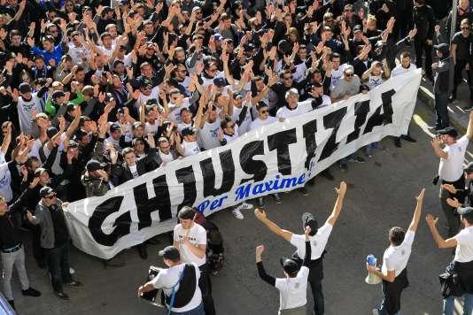 Manifestation à Bastia, samedi 20 février.