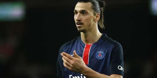 Zlatan Ibrahimovic, au Parc des Princes, le 20février.
