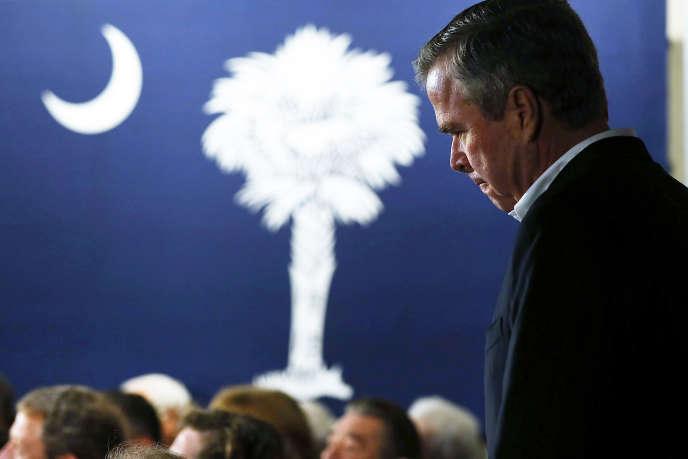 L'ancien candidat à l'investiture républicaine Jeb Bush à Beaufort, en Caroline du Sud, le 20 février 2016.