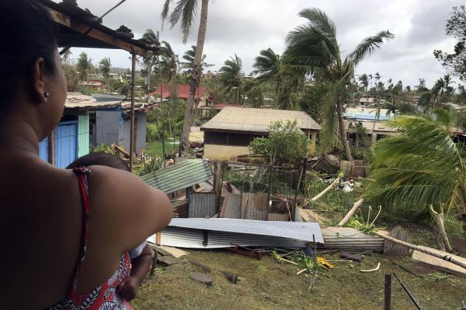 Les dégâts du cyclone