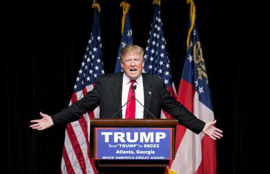 Donald Trump lors d'un meeting de campagne à Atlanta, en Georgie, le 21 février 2016.