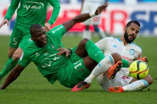 Le Marseillais Romao face à Florentin Pogba dimanche 21 février au Stade vélodrome.