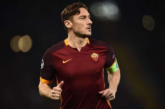 Francesco Totti, le 17 février lors du huitième de finale de la Ligue des champions contre le Real Madrid.