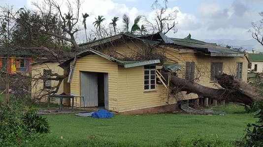 Après le passage du cyclone Winston à Namosau, aux îles Fidji, le 22 février 2016.