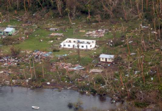 Les dégâts causés par le cyclone Winston sur l'île de Vanua Balavu, le 21 février 2016.