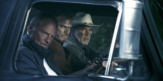 Sam Shepard (Russel), Michael C. Hall (Richard Dane) et Don Johnson (Jim Bob) dans « Cold in July », de Jim Mickle (2014).