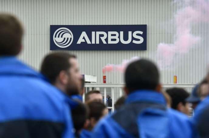 Le 22 février 2016 sur le site Airbus de Bouguenais (Loire-Atlantique).