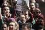 Manifestation au Caire, le 12 février, après la détention abusive de deux docteurs d'un hôpital de la capitale.