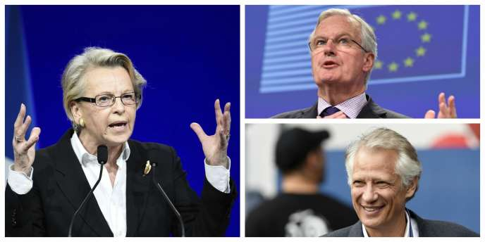 Michèle Alliot-Marie, Michel Barnier et Dominique de Villepin.