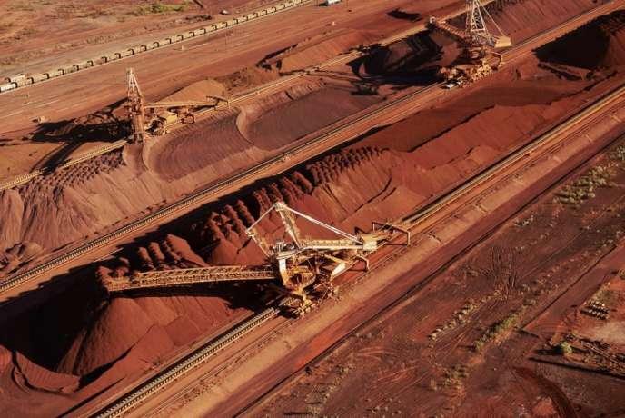Une mine de fer de BHP Billiton, à Port Hedland (Australie).