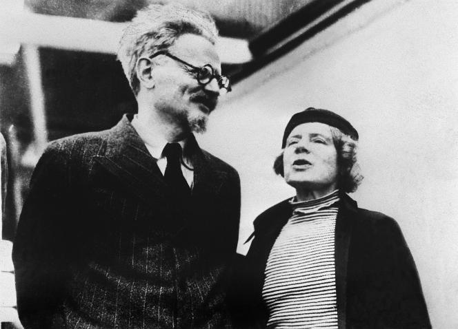 Léon Trotski et sa femme Natalia Sedova, à Mexico, en 1937.