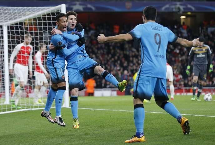 Lionel Messi a marqué deux fois mardi à Arsenal.