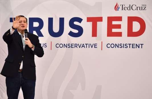Ted Cruz, candidat à l'investiture du parti républicain, lors d'un meeting de campagne à Las Vegas dans le Nevada, le 22 février.