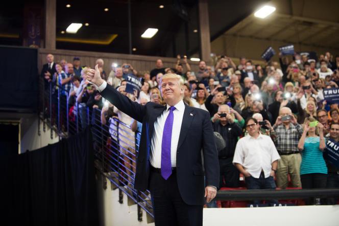 Donald Trump, lors d'un meeting à Las Vegas, lundi 22 février.