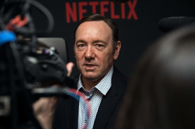 Kevin Spacey à la première de la saison 4 de « House of Cards», à Washington, le 22 février. / AFP / Nicholas Kamm