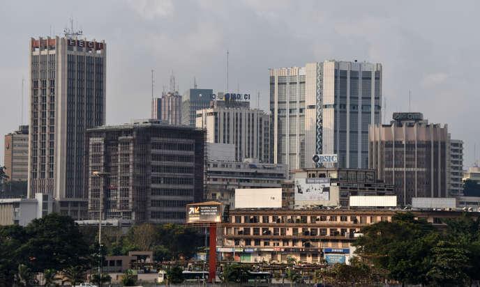 Le quartier commercial du Plateau dans le sud-est d' Abidjan.