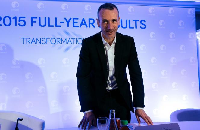 «Certaines entreprises ont montré leur volonté de relever ce défi. Danone et Veolia, les grands groupes que dirigent MM. Faber et Frérot, se sont par exemple engagés depuis plusieurs années dans des projets à la fois commerciaux et sociaux» (Photo: Emmanuel Faber en 2016).