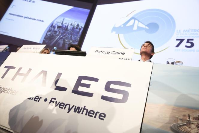 Patrice Caine, PDG  de Thales, le 13 mai 2015.