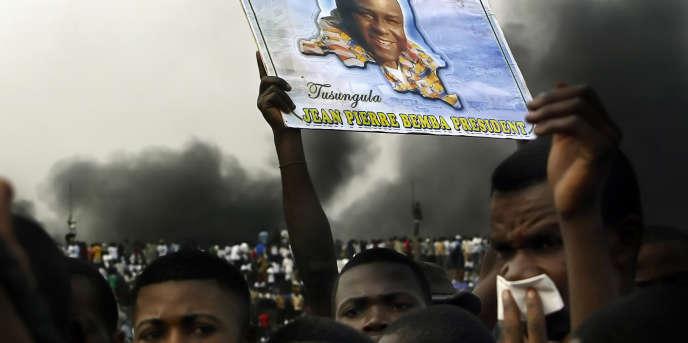 Des partisans de Jean-Pierre Bemba à Kinshasa en 2006.