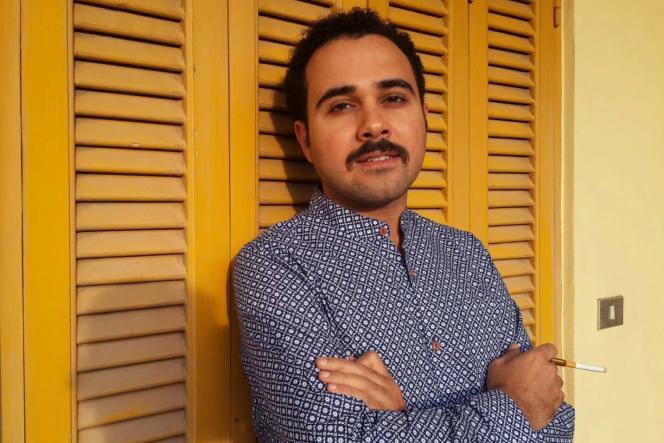 L'écrivain égyptien Ahmed Naji au Caire, le 20 février 2016.