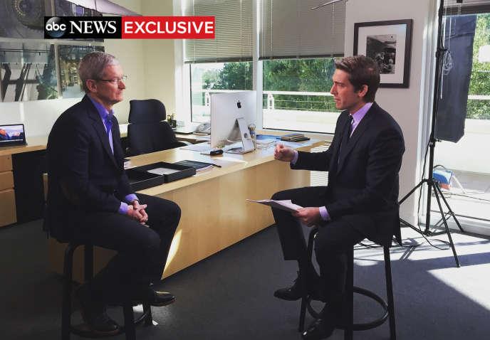 Dans une interview, Tim Cook dit craindre les dérives engendrées par la demande du FBI et affirme vouloir se battre jusqu'à la Cour suprême.
