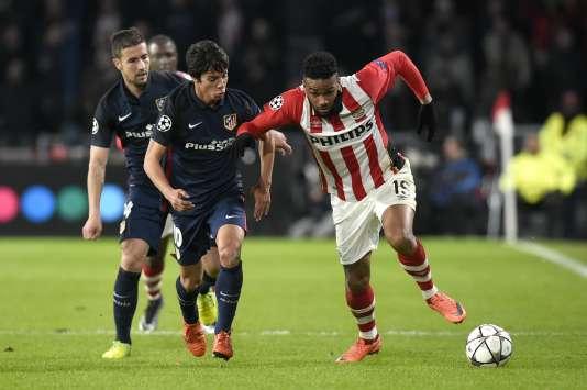 L'Atletico Madrid domine le PSV mais sans marquer en huitièmes de finale de la Ligue des champions, le 24 février.