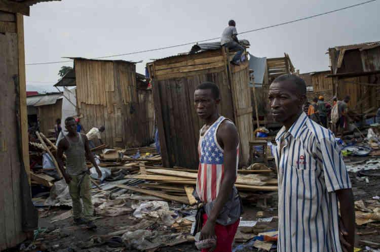 Jabe est un des quartiers les plus pauvres Bujumbura, ici le 22 janvier.
