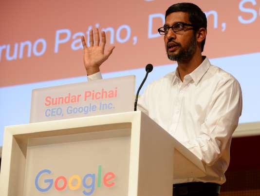 Sundar Pichai, PDG de Google, à Paris le 24 février 2016.
