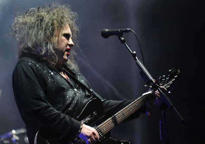 Robert Smith du groupe The Cure à Asuncion au Paraguay en avril 2013.