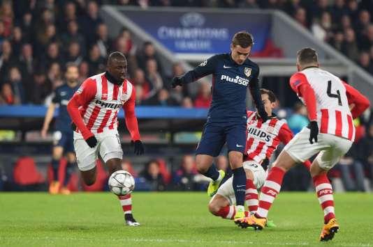 Antoine Griezmann sera le fer de lance de l'attaque madrilène contre le PSV Eindhoven.