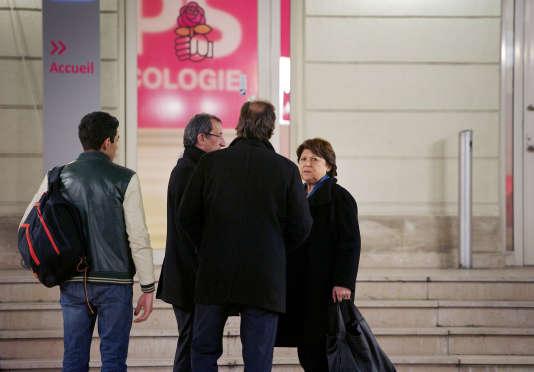Bureau national du parti socialiste le 14 decembre 2015. Arrivée de Martine Aubry