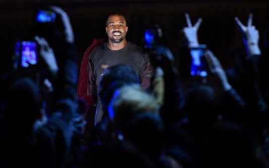 Le rappeur Kanye West pendant un concert à Erevan, en Arménie, le 12 avril 2016.