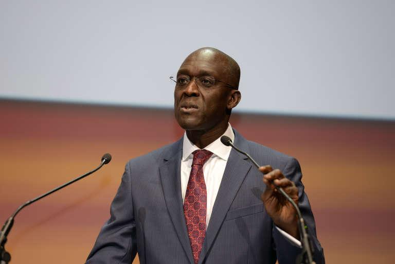 Makhtar Diop, vice-président de la Banque mondiale pour l'Afrique, lors des Débats du Monde Afrique à Paris le 23 février 2016.