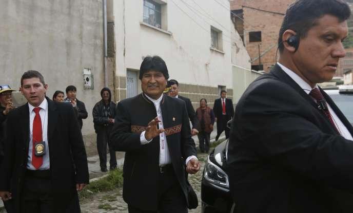 Evo Morales à La Paz, le 22 février 2016.