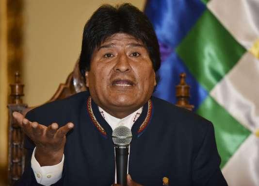 Evo Morales, le mercredi 24 février à La Paz (Bolivie).