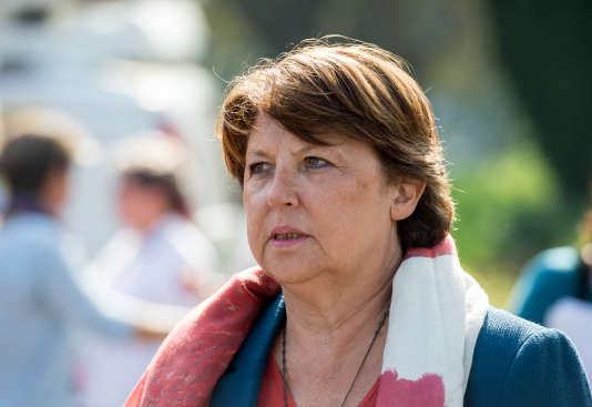 La maire de Lille, Martine Aubry, en 2014.