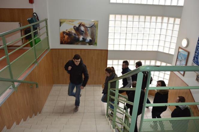 Au lycée de Marvejols, en Lozère.