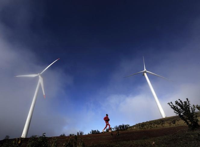 Des éoliennes, au sud-ouest de Nairobi (Kenya), en 2010.