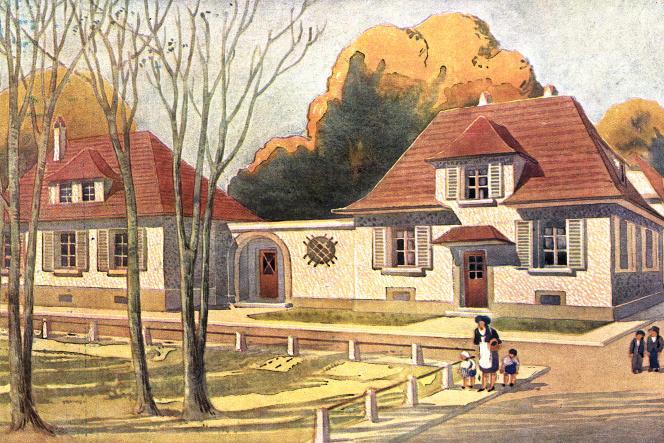 La cité-jardin Ungemach, à Strasbourg, en 1929.