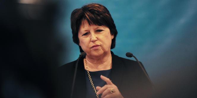 Martine Aubry, la maire PS de Lille, le 14 janvier 2016 à Lille.
