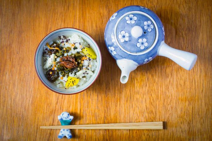 L'ochazuke, ou riz au thé japonais.