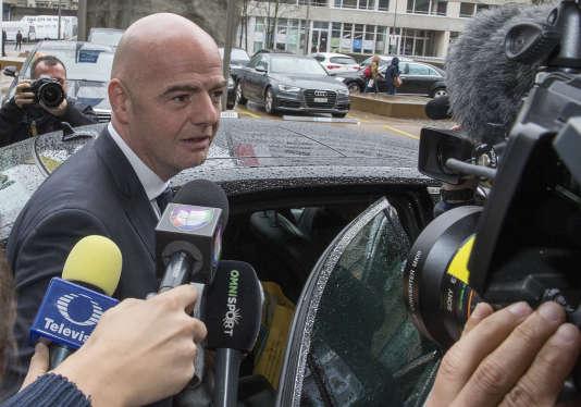 Gianni Infantino, candidat à la présidence de la FIFA, le 25 février à Zurich.